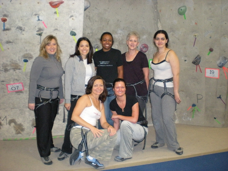 Rock climbing class trip