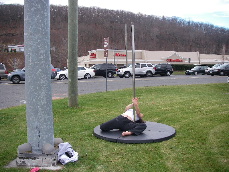 Public pole dancing on Black Friday